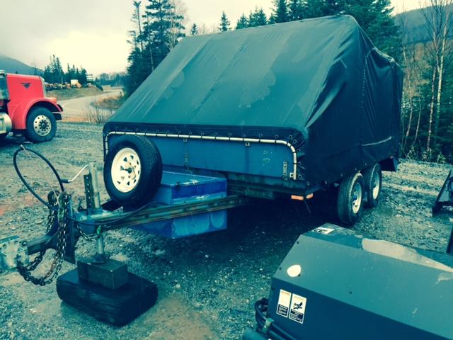 Snowmobile Trailer Axles : Tandem axle enclosed double snowmobile trailer